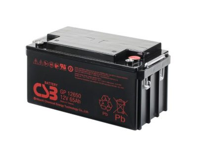 BATTERIE PLOMB CSB 12V 65AH GP12650